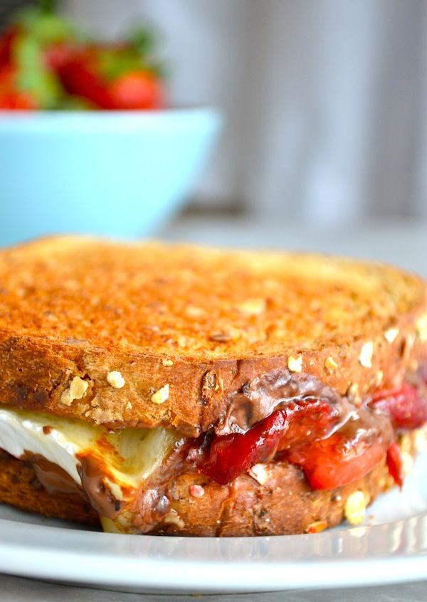 Roasted Strawberry & Chocolate Brie Grilled Cheese: this is easily the ...