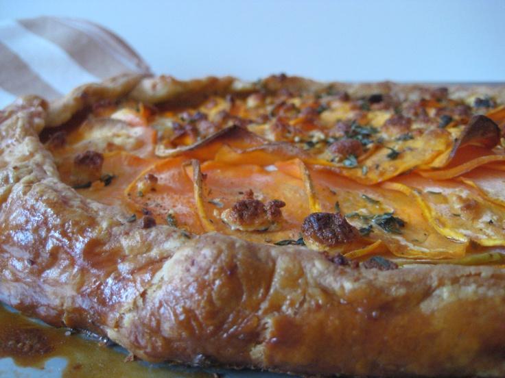 sweet potato apple amp cheese tart
