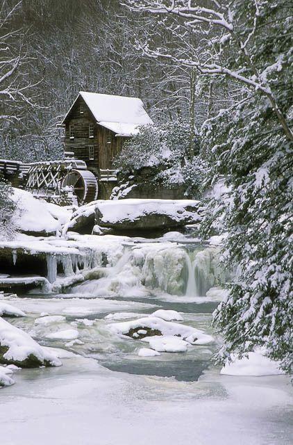 Winter Wonderland.....a frozen waterfall.