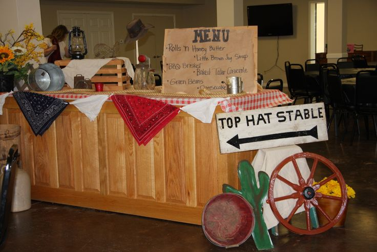 CountryWestern Decorations For Banquet Church Events
