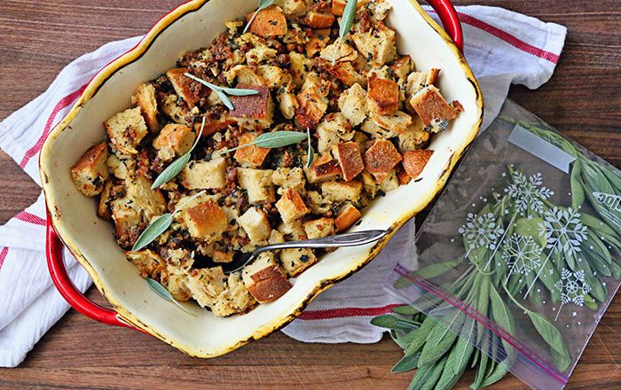 Couldn't resist this 5-Ingredient Sourdough and Sausage Stuffing ...
