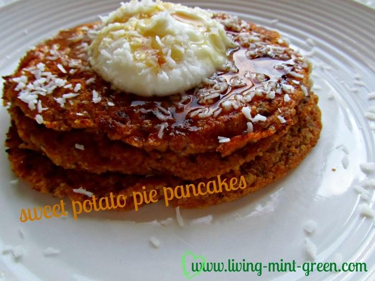 Sweet potato pie pancakes