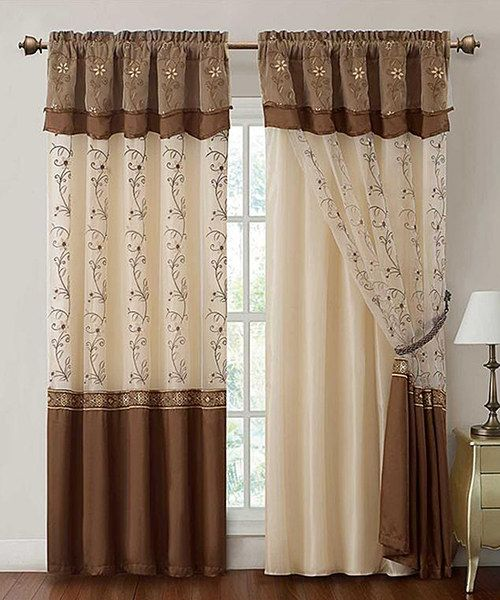 Another great find on #zulily! Cinnamon Daphne Curtain Panel Set by ...
