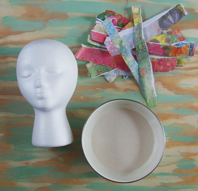 Paper m ch heads display ideas pinterest for Easy paper mache ideas
