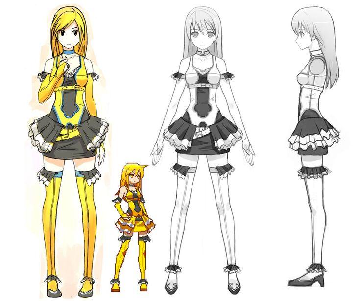 Easy Character Modeling Blender : Chibi anime character model sheet sheets pinterest