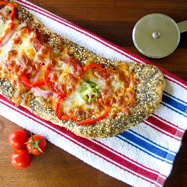 Sesame Ranch Crusted Peperoni Pizza Recipe — Dishmaps