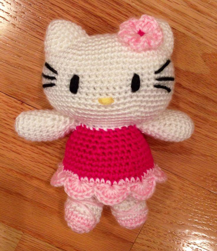 Crochet Pattern Minnie Mouse Doll : Hello Kitty crochet doll Cro Pinterest