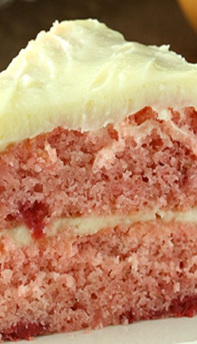 Strawberry Layer Cake With Cream Cheese Frosting | Recipe