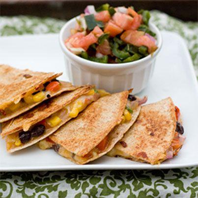 Spicy Veggie Quesadilla | Amazing Foods | Pinterest