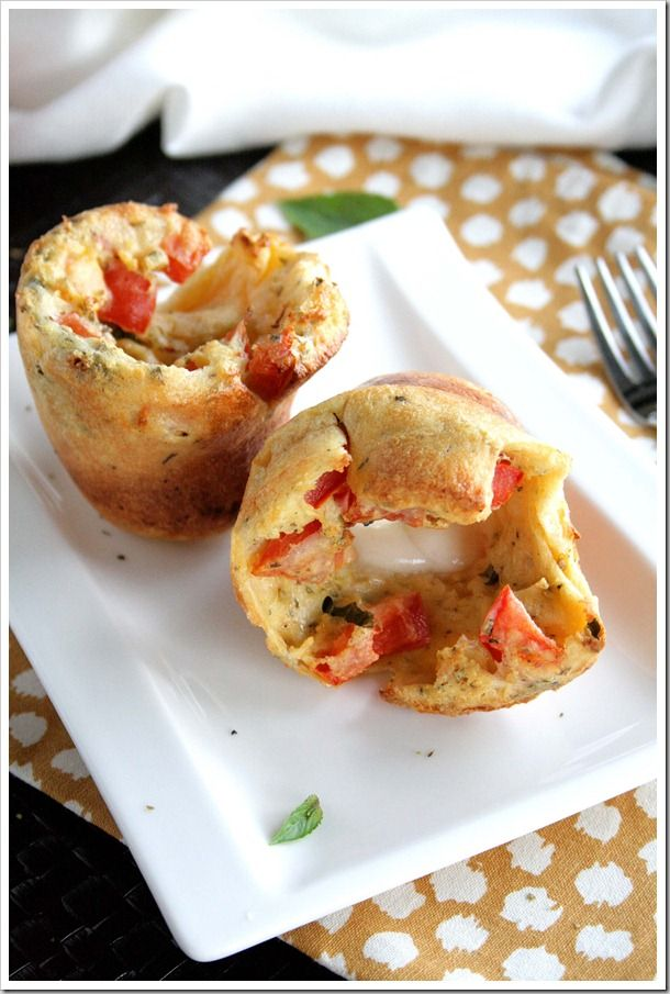 Caprese Popovers | Yummy recipes | Pinterest
