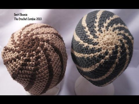 Swirl Beanie Tutorial - YouTube Crochet Patterns Pinterest