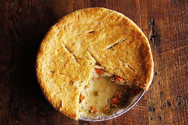 Pioneer Woman - chicken pot pie (freezer friendly)...can find recipe ...