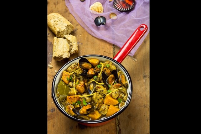 Mussels, Monkfish, Sweet Potato and Saffron Stew | http://www ...
