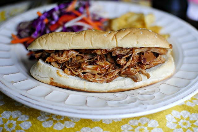 Chipotle barbecue slow cooker chicken - made it today and it was great ...