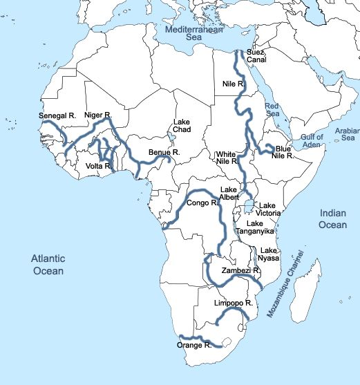 Best Africa Map Ideas On Pinterest Africa Continent African - Blank world map with rivers