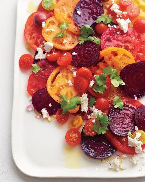 Tomato-Beet Salad...beautiful!