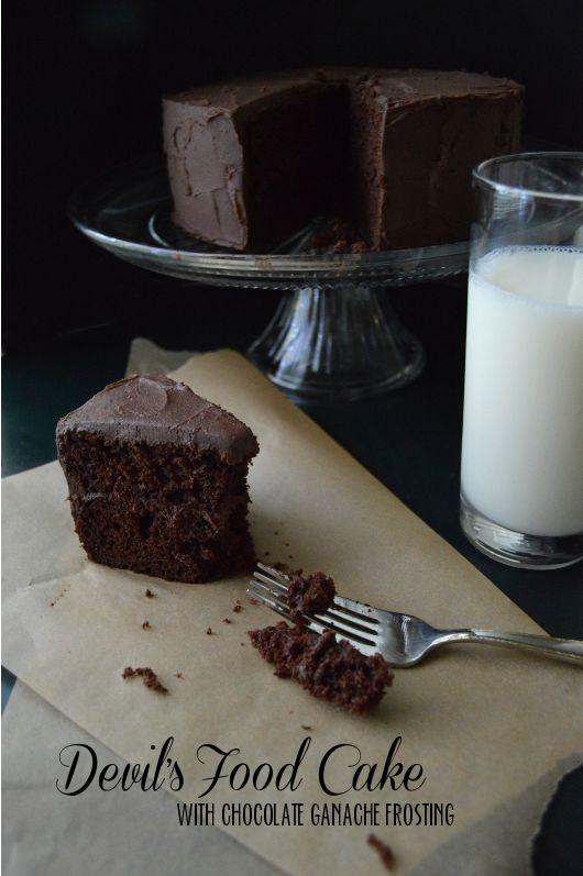 ... Devil's Food Cake! - Devil's Food Cake Recipe with Chocolate Ganache