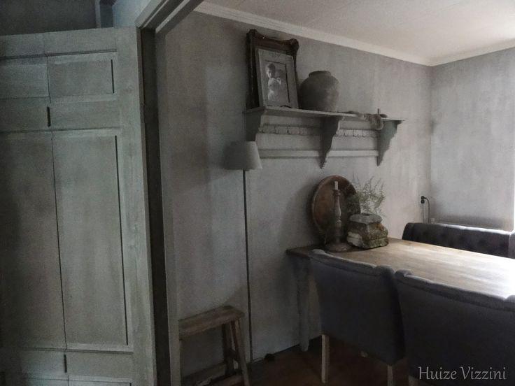 Keuken Pimpen Met Krijtverf : Carte Colori kalkverf beton op de muur Country/cottage living rooms
