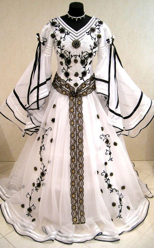 Medieval Wedding Dress Victorian Larp Goth Halloween M