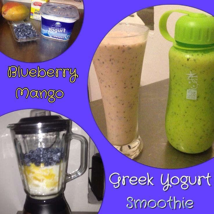 Blueberry Mango Greek Yogurt Smoothie | :: Pin.Cook.Eat. :: | Pintere ...