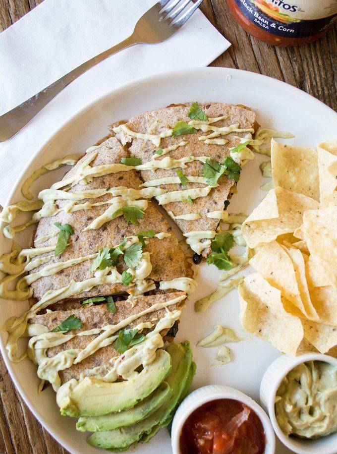 Butternut Squash, Black Bean and Kale Quesadilla | Recipe