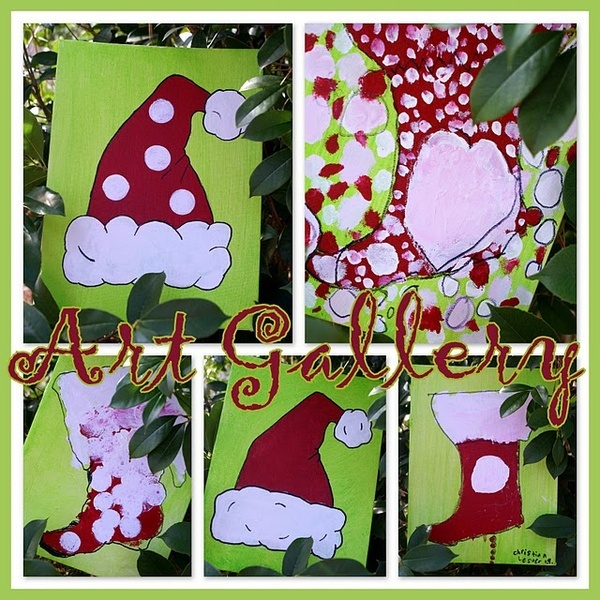 Christmas painting party crafts pinterest for Christmas canvas painting ideas