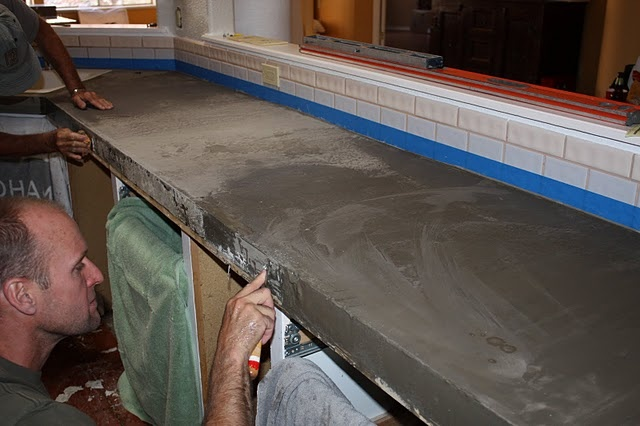 DIY Inexpensive Concrete Countertops Dining In Pinterest