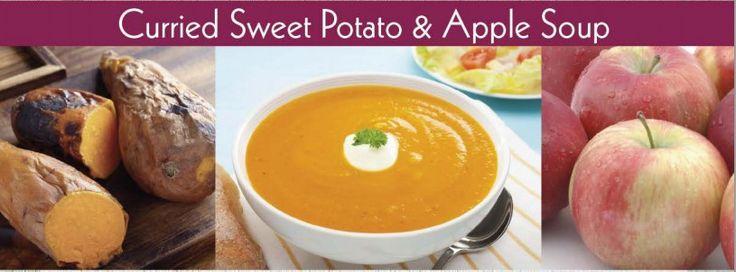 Sweet potato apple soup | Stuff and Junk | Pinterest
