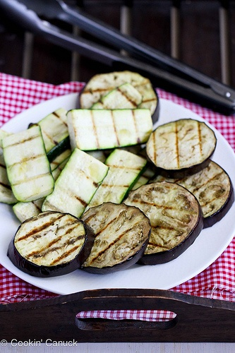 grilled eggplant amp zucchini salad recipe with feta chickpeas amp ...