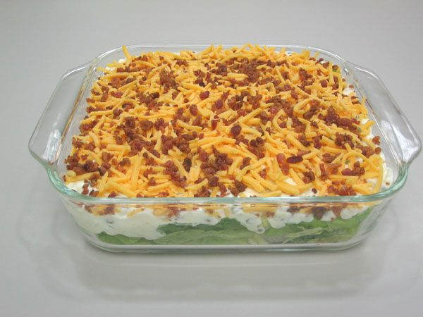 Seven Layered Salad   ANNJANELIVING.COM: Our Blog   Pinterest