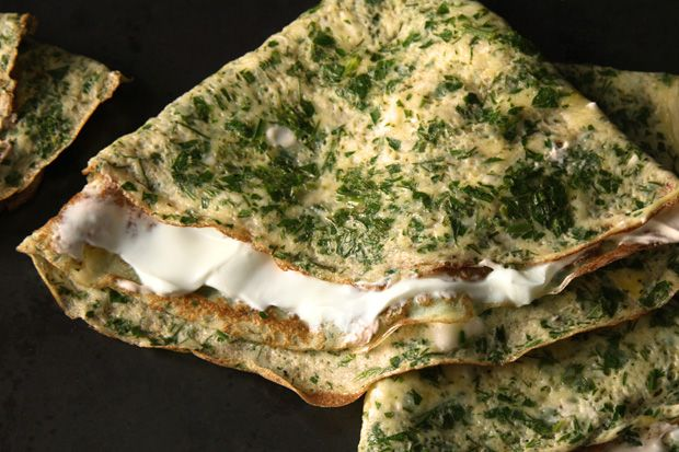 Herb Omelets Recipe:http://www.chow.com/recipes/28801-herb-omelets