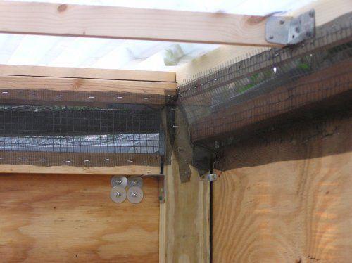 Ventilation chicken coop ideas pinterest for Chicken coop vent ideas