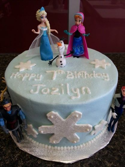 Images Of Frozen Character Cake : Frozen Cake with Characters Character Cakes Pinterest