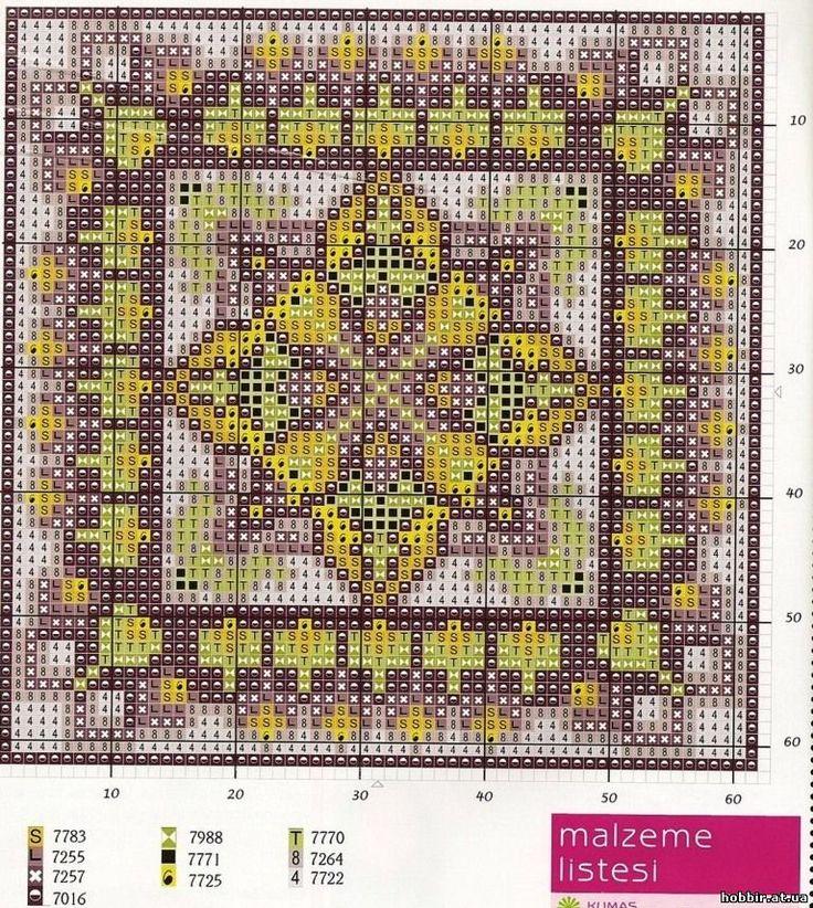 Вышивка крестом на подушках схемы 51
