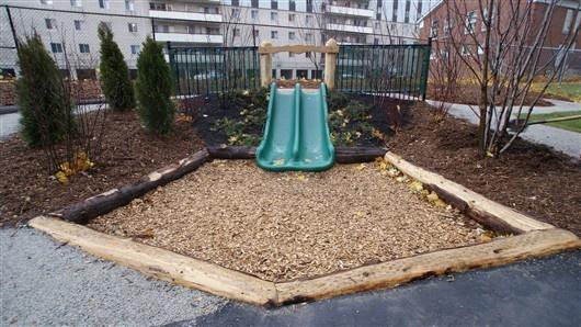 Backyard Hill Slide : Hill Slide Plantings  Gardens