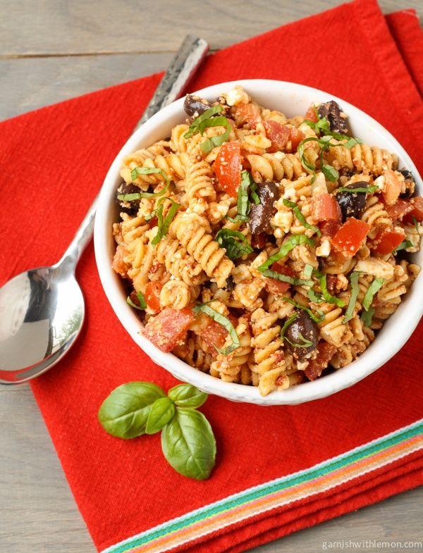Tomato Feta Pasta Salad.   food   Pinterest