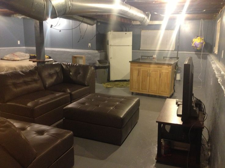 Unfinished basement ideas on a budget remodelaholic home sweet home on a budget finish their - Unfinished basement design ...
