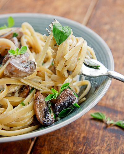 Linguini With Garlic And Mushrooms