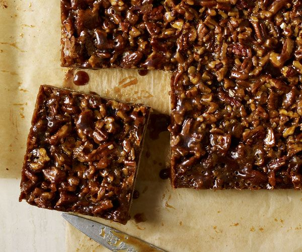 Mexican-Style Pecan-Chocolate Squares Recipe Looks easy and delicious