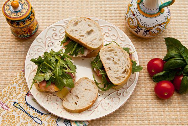 arugula mozzarella and tomato on focaccia arugula mozzarella tomato ...