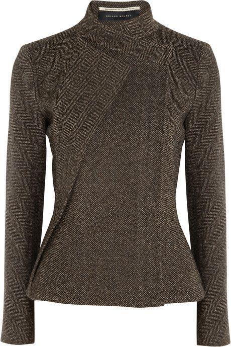 Roland mouret tulkinghorn herringbone wool jacket