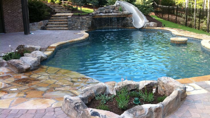 Beach entry pools design naturals ideas for house for Pool design with beach entry