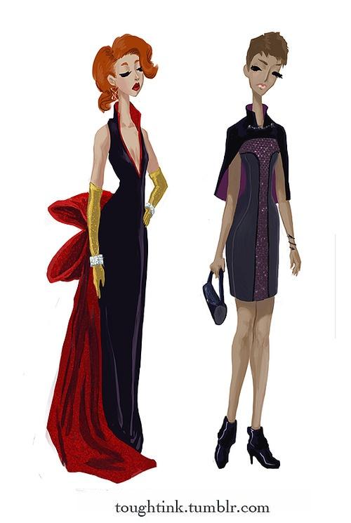 OMG OMG Black Widow and Hawkeye formal wear!!  <3