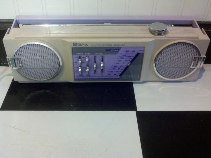 80's Purple boombox