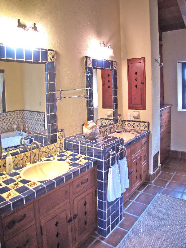 Pin by kerrie smyres on mexican house pinterest - Spanish style bathroom ideas ...