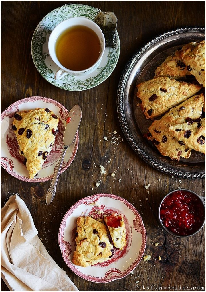cranberry amp almond scones by fit fun amp delish