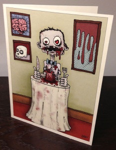 zombie valentine cards