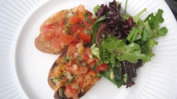 Bruschetta With Roasted Garlic and Cherry Tomatoes | Recipe