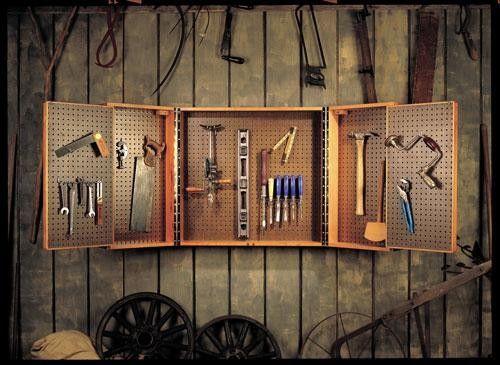 Pegboard Lovers Cabinet | ShopWoodworking