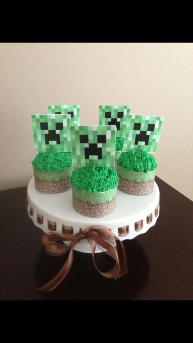 Minecraft Cupcakes Cake Cookies Cupcakes Pinterest